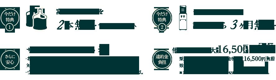 今だけ特典・富士山の天然水を2本無料でプレゼント
