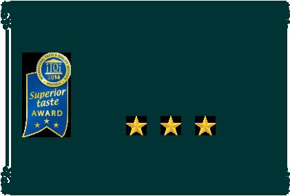 iTQi優秀味覚賞最高ランク三ツ星獲得